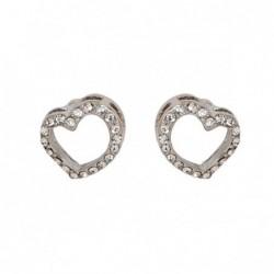 Brincos Simbolic Heart Silver